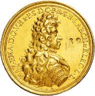 3022: Electorate of Bavaria. Maximilian II. Emanuel. 1679-1725. 12 ducats.