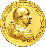 3062: Electorate of Bavaria. Karl Theodor. 1777-1799. Gold medal of 12 ducats.