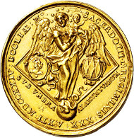 3115: Freising. Johann Franz Eckher baron of Kapfing. 1695-1727. 12 ducats 1724.