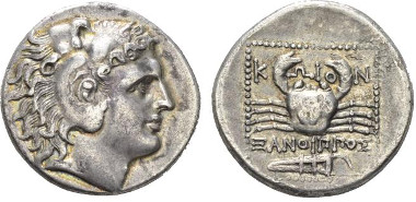 Lot 51: Caria Tetradrachm circa 300-190 - Ex NAC sale 78, 2014, 1510. Lightly toned and Good Very Fine. Starting bid: £ 700.