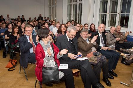 Blick in den Hörsaal während der Feier. Foto: Kristina Klein (Institut für Klassische Archäologie der Universität Wien).