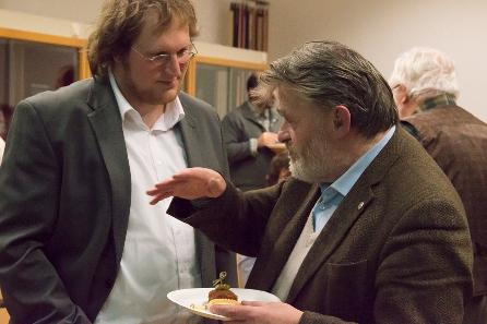 Malte Rosenbaum, Helmut Zobl (v. l. n. r.). Foto: Kristina Klein (Institut für Klassische Archäologie der Universität Wien).