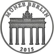 Deutschland / 2015 / 333/1000 Silber / 32,5 mm / Design: Kerstin Schubert und Stefanie Lindner, Münze Berlin.