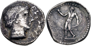 Lot 25: CRETE, Eleuthernai. Circa 320-270 BC. Stater (24mm, 11.01 g, 12h). Le Rider, Crétoises pl. XXXIII, 9 (same dies); Traeger 49. VF. Extremely rare. From the Colin E. Pitchfork Collection. Estimate $1000.
