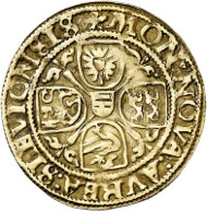 Lot 4136: ZENTINI COLLECTION / SCHLESWIG-HOLSTEIN. Christian III, 1533-1559 as Duke of the duchies Schleswig and Holstein, Danish King since 1534. Gold gulden 1536, Schleswig. Rhenish type. Very rare. Very fine. Estimate: 10,000,- euros.