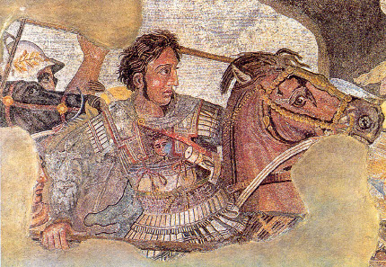 Alexander the Great on his war horse Bukephalos. Alexander mosaic in the Archaeological National Museum of Naples. Photo: Ruthven / Wikipedia.