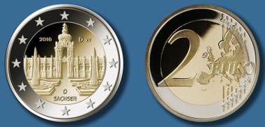 Deutschland / 2016 / 2 Euro / Design: Jordi Truxa, Neuenhagen. © Bundesamt für zentrale Dienste und offene Vermögensfragen (BADV).