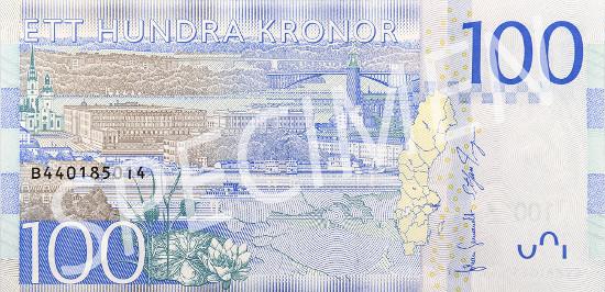 New 100-krona banknote.