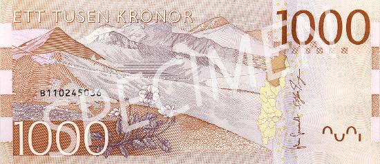 New 1000-krona banknote.