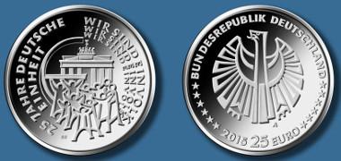 Deutschland / 2015 / 25 Euro / Ag 999 / 18 g / Design: Bernd Wendhut, Bernkastel-Kues. © Bundesamt für zentrale Dienste und offene Vermögensfragen (BADV).