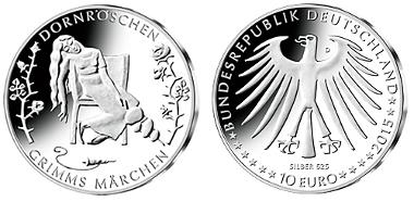 Deutschland / 2015 / 10 Euro / Kupfer-Nickel-Legierung oder Silber-Kupfer-Legierung / 14 g oder 16 g / Design: Marianne Dietz, Berlin.