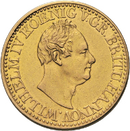 Los 1147: Braunschweig-Calenberg-Hannover, Wilhelm IV. 1830-1837. 10 Taler 1833, o.Mmz.-Hannover. 13,26 g. AKS 56, Jaeger 116a, Schlumberger 381, Friedberg 1164, D/S 95. Vorzüglich. Taxe: 1.000 Euro.
