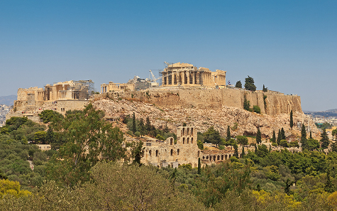 The acropolis of Athens - symbol of power and wealth. Photograph: A. Savin / http://creativecommons.org/licenses/by-sa/3.0/deed.en