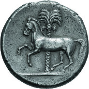 66: Sikulopunier. Tetradrachme, 350-300. Jenkins III, 138.7 (dieses Stück). Aus Sammlung Niggeler. Vorzüglich. 17.500 $.