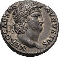 282: Nero, 54-68. Denar, 65/66. RIC 60. FDC. 8.500 $.