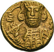 37: Konstantin IV., 668-685. Solidus, Karthago. MIB 25 (Sardinia). Sear 1189. Vorzüglich. 1.400 $.