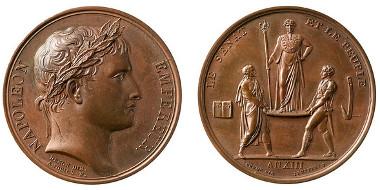 Bronze medal: Coronation of Napoleon in Paris 1804. © Liechtenstein National Museum.