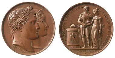 Bronze medal: Wedding of Napoleon with Marie Louise von Österreich, 1810. © Liechtenstein National Museum.