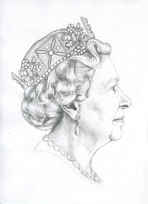 Winning coin portrait of The Queen. © The Royal Mint.