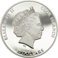 Cook Islands / 2015 / 10 Dollars / Silver .925 / 50 g / 50 mm / Proof / Mintage: 1000 pcs.