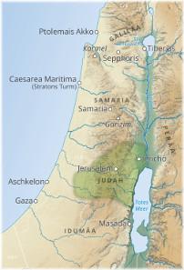Die Provinz Judah im 4. Jahrhundert v. Chr. © Universität Wien, IfGR.
