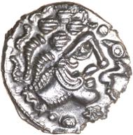 First known portrait of a British king? Lister's Celtic Head silver unit, c.50-40 BC, ABC 2478. Chris Rudd, 15.3.2015. Estimate: £1250.