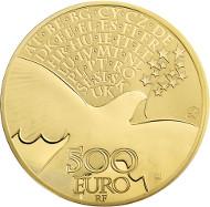France / 2015 / 500 Euro / Au 999 / 155.5 g / 50mm / Mintage: 99.