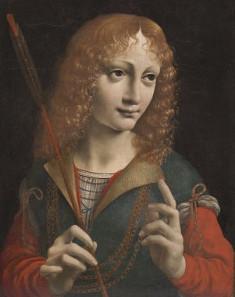 Giovanni Ambrogio de Predis, Angebliches Porträt des Giovanni Galeazzo Maria Sforza als Heiliger Sebastian. Quelle: Wikicommons.