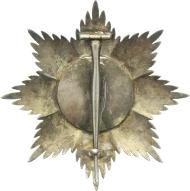 OEK 2922/1 Württemberg, Orden der Württembergischen Krone, Bruststern zum Großkreuz, 1818-1918, Sternkorpus, Medaillon, minimale Emailfehler, 5.200,- Euro.