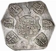 Jülich. Frederik Pithan, Commander of Jülich, 1614-1622. Uniface coin of 20 stüver struck during the siege, 1621. Auction Künker 122 (2007), 4327.