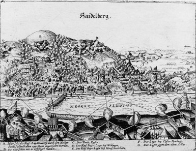 The 1622 Siege of Heidelberg in a contemporary pamphlet, 1622.