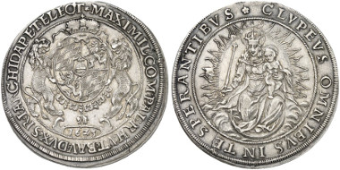 Bavaria. Maximilian I. Reichsthaler, 1625. Auction Künker 249 (2014), 823.