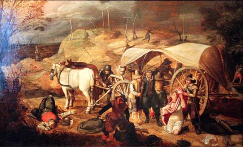 Sebastian Vrancx, Marauding Soldiers, 1647.
