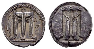 Los 14: Bruttium, Kroton AR Stater 550/480 v.u.Z. Ausruf: 500 Euro, Zuschlag: 2.500 Euro.