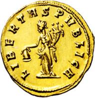 RÖMISCHES KAISERREICH, Julianus von Pannonien. 284-285, Siscia. Aureus. C. 4. R.I.C. 1. Calico 4417. vz-St. Taxe: EUR 45.000, Zuschlag: EUR 63.000.
