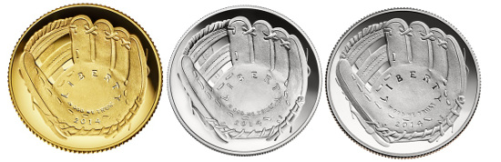 2014 National Baseball Hall of Fame commemorative coins. Source: Wikipedia. United States Government / Department of Treasury - United States Mint.
