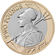 New £2 coin.