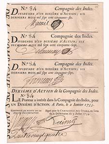John Law und seine Companie des Indes, auch Mississippi-Gesellschaft genannt, stehen für den französischen Finanzskandal 1720.