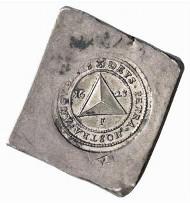 Frankenthal. Uniface klippe of 4 gulden 1623. Auction Künker 116 (2006), 4525.