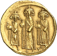 Umayyad coinage. Undated Arab-Byzantine solidus, around 60-72 AH (= 679-691). Numismatica Genevensis 8 (2014), 226. Estimate: 75,000 CHF. Hammer price: 200,000 CHF.