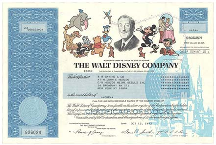Share of the Walt Disney Company.