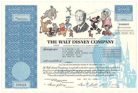 Aktie der Walt Disney Company