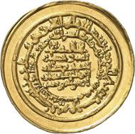 al-Muqtadir, 295-320 AH (= 908-932). Heavy dinar, 303 AH (= 915-916), Madinat al-Salam (= Baghdad). Numismatica Genevensis 8 (2014), 257. Estimate: 15,000 CHF. Hammer price: 42,000 CHF.