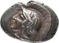 Lykien. Dynast Kherei Stater 430/410 v. Chr., Tlos. Mørkholm/Zahle, Kherei 57 var.; Müseler VI,37 (dies Exemplar). Vorzüglich.