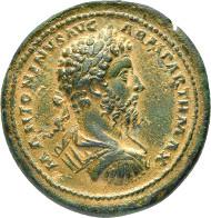 Rom. Marcus Aurelius, 161-180. Bronze-Medaillon 168/169, Rom Gnecchi, S. 34, 56 (Tf. 63, 6). Vorzüglich.