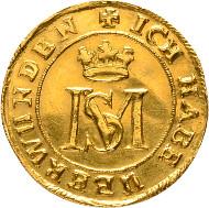 Sachsen-Altenburg. Friedrich Wilhelm II., 1639-1669. Dukat 1668, Saalfeld, auf den Tod seiner Gemahlin Magdalena Sibylla. Vorzüglich.