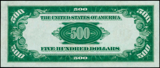 Fr. 2200-Hdgs. 1928 $500 Federal Reserve Note. St. Louis. PMG Gem Uncirculated 66 EPQ. From the Holecek Family Foundation Collection. Estimate: $6,000 - $8,000.