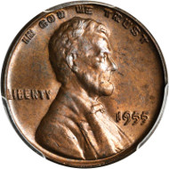 1955 Lincoln Cent. FS-101. Doubled Die Obverse. MS-64 BN (PCGS). From the Dr. Donald Gutfreund Collection. Estimate: $2,200.