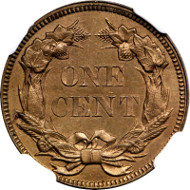 1856 Flying Eagle Cent. Snow-2. Rarity-7. Pointed U, High Leaves. Proof-65 (NGC). Eagle Eye Photo Seal. From the Reference Collection of Q. David Bowers. Estimate: $22,000.