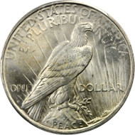 1926-D Peace Silver Dollar. MS-65 (PCGS). CAC. From the Dr. Donald Gutfreund Collection. Estimate: $550.